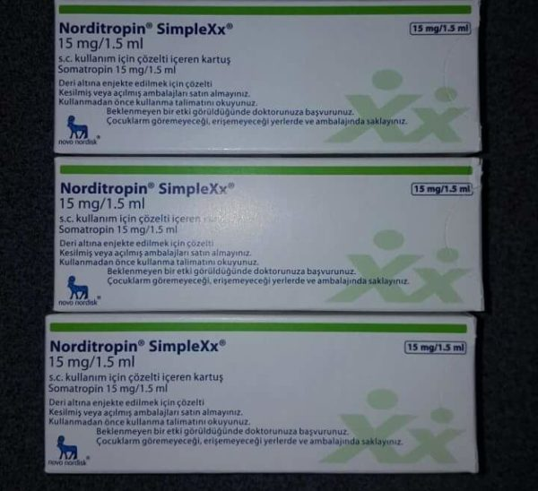 NORDITROPIN SIMPLEXX 15MG/1.5ML (45IU) Manufacturer: Novo Nordisk Basic substance: Somatropin Package: One 15mg/1.5ml Prefilled pen Category: HGH