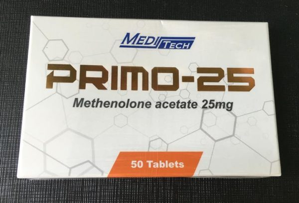 PRIMO-25 (METHENOLONE ACETATE 25MG) BY MEDITECH - 50 TABLETS Manufacturer: MEDITECH Basic substance: Methenolone Acetate Package: 50 Tablets pack Category: ORAL STEROIDS